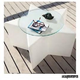 Mesa terraza AGETOILE con cristal incluido