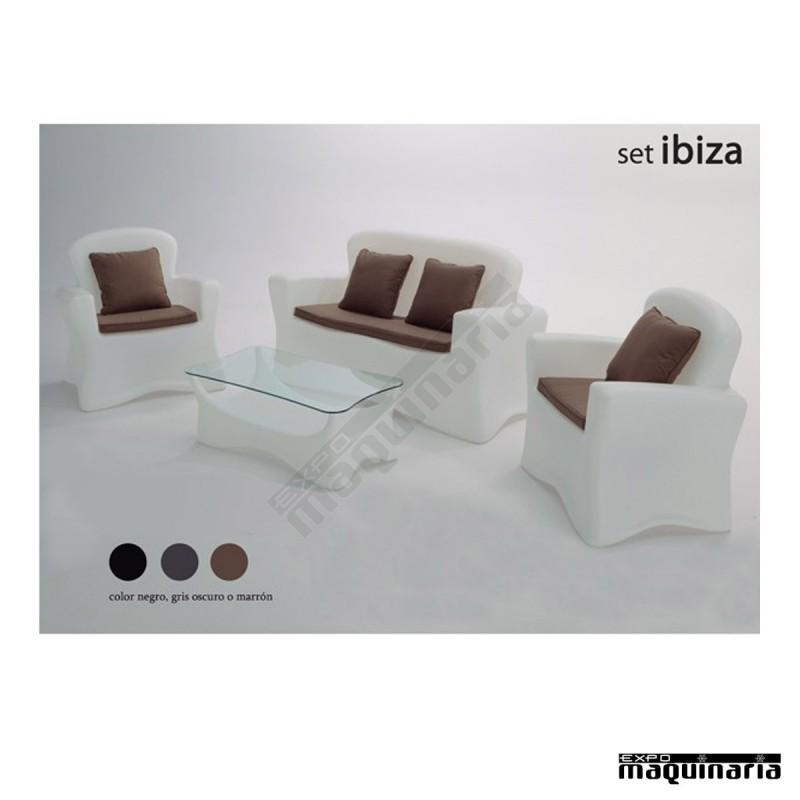 Conjunto de jard n agibiza iluminable for Conjunto mobiliario jardin