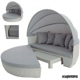 Conjunto terraza hosteler a y jard n de sofas y mesas for Sofa redondo jardin