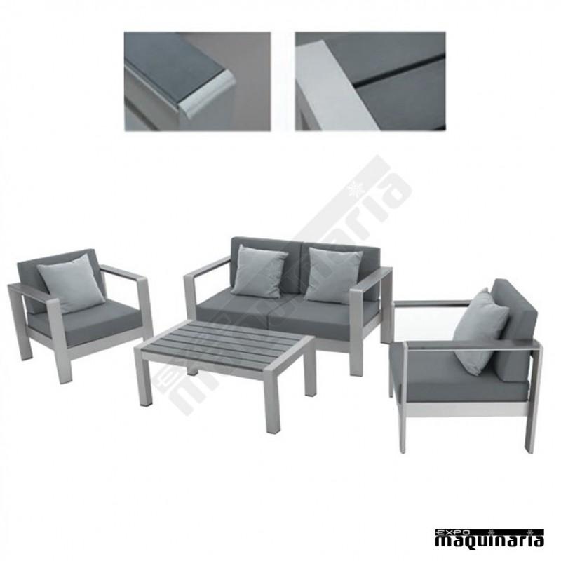 Conjunto para jard n agconcept de aluminio y resina for Conjunto de resina para jardin