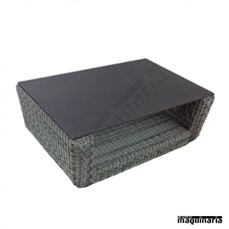 Conjunto para jard n agchipre de aluminio y rattan redondo for Conjunto terraza rattan