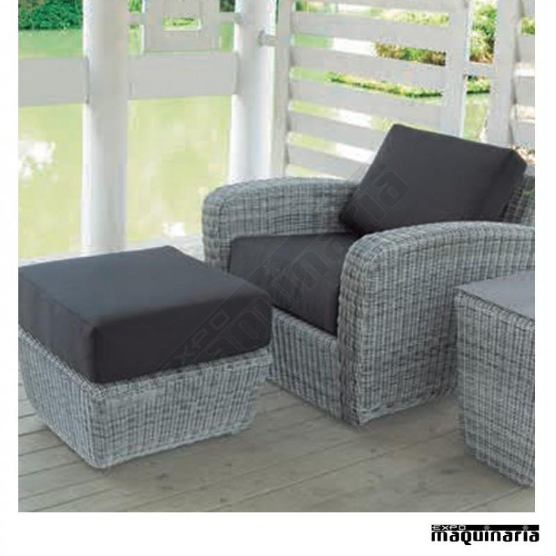 Conjunto para jard n agchipre de aluminio y rattan redondo for Sofa redondo jardin