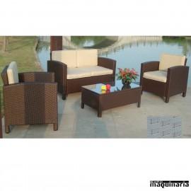 Conjunto terraza hosteler a y jard n de sofas y mesas - Conjunto jardin rattan ...