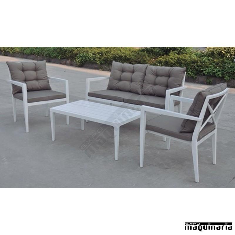 Conjunto para jard n aglodge de aluminio for Conjunto jardin aluminio