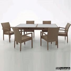 Conjunto terraza hosteler a y jard n de sofas y mesas 2 for Conjunto terraza rattan