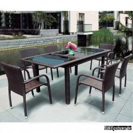 Conjunto terraza hosteler a y jard n de sofas y mesas for Conjunto jardin rattan sintetico