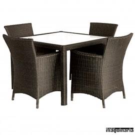Conjunto terraza hosteler a y jard n de sofas y mesas for Conjunto terraza rattan