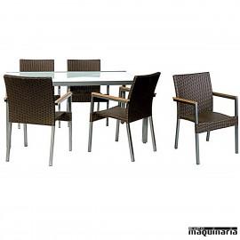 Conjunto terraza hosteler a y jard n de sofas y mesas for Conjunto jardin rattan