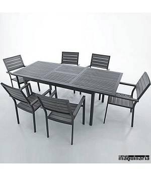 Conjunto para terraza AGKINDER de aluminio y resina