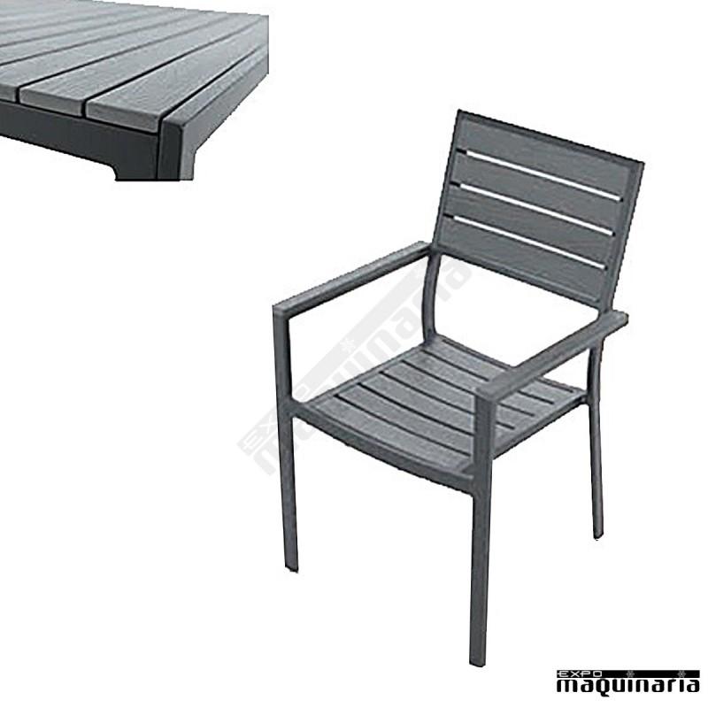 Conjunto jard n agkinder de aluminio lacado y resina for Mobiliario jardin resina