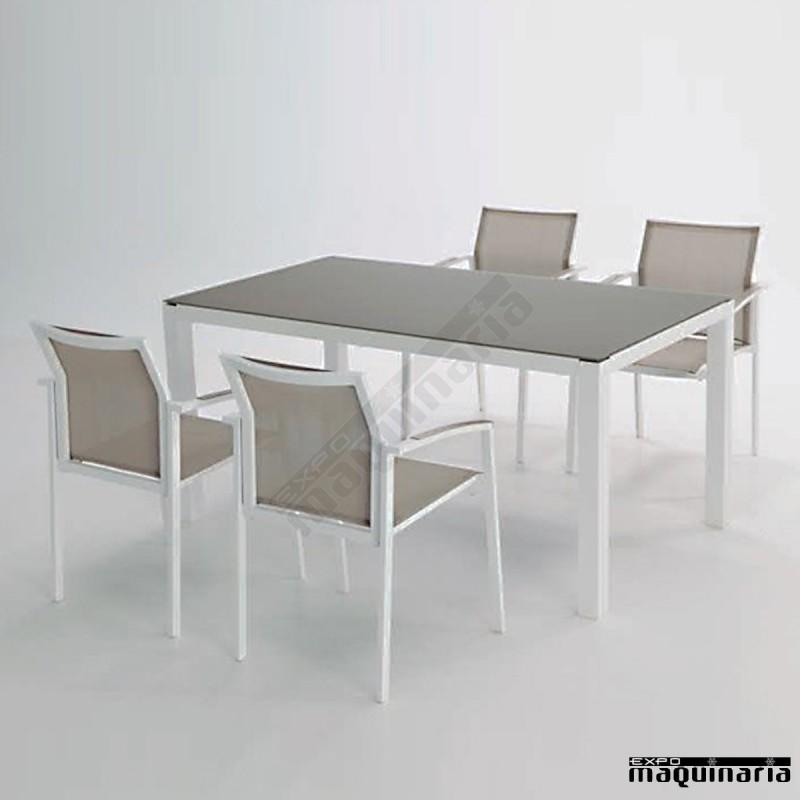 Conjunto jard n aglaos de aluminio y textiline for Conjunto jardin aluminio