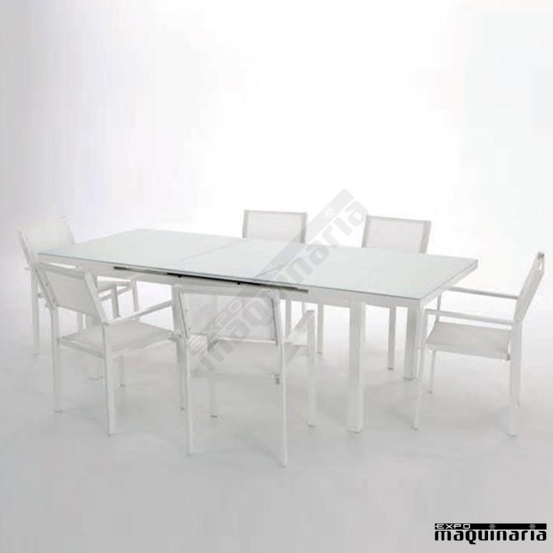 Conjunto jard n agtaha de aluminio y textiline for Conjunto jardin aluminio