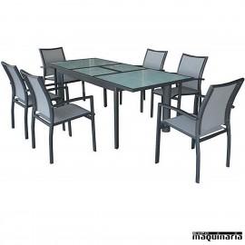 Conjunto para terraza AGEIRE de aluminio y textiline