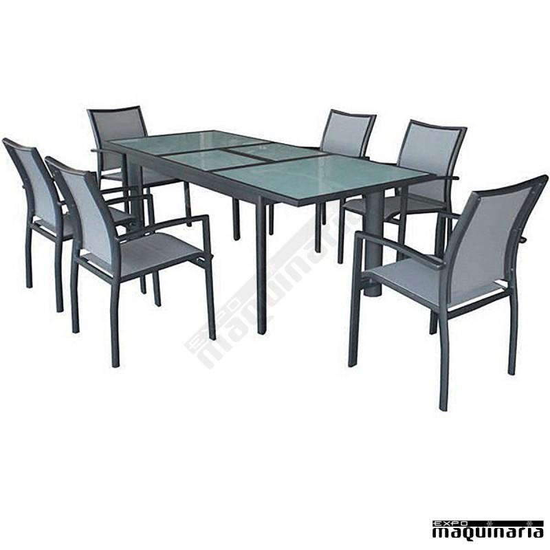 Conjunto jard n ageire de aluminio y textiline for Conjunto jardin aluminio