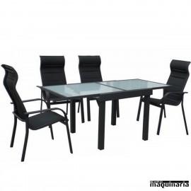 Conjunto para terraza AGPRACTIK de aluminio y textiline