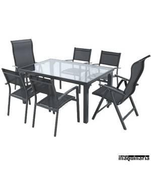 Conjunto para terraza AGPNUIT de aluminio y textiline