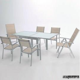 Conjunto para terraza AGSERA de aluminio y textiline
