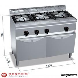 Cocina gas 3 fuegos con horno RMG6F3H12+FG1
