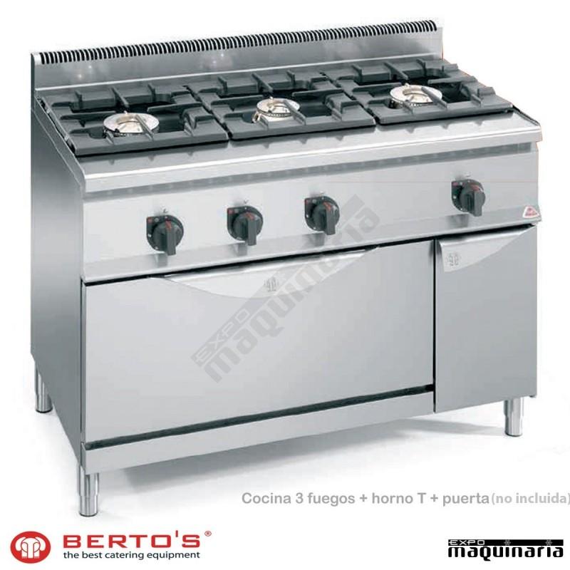 Cocina gas 3 fuegos con horno maxi rmg6f3h12 t - Cocina gas 3 fuegos ...
