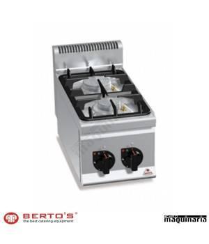 Cocina gas 2 fuegos RMG6F2BPW