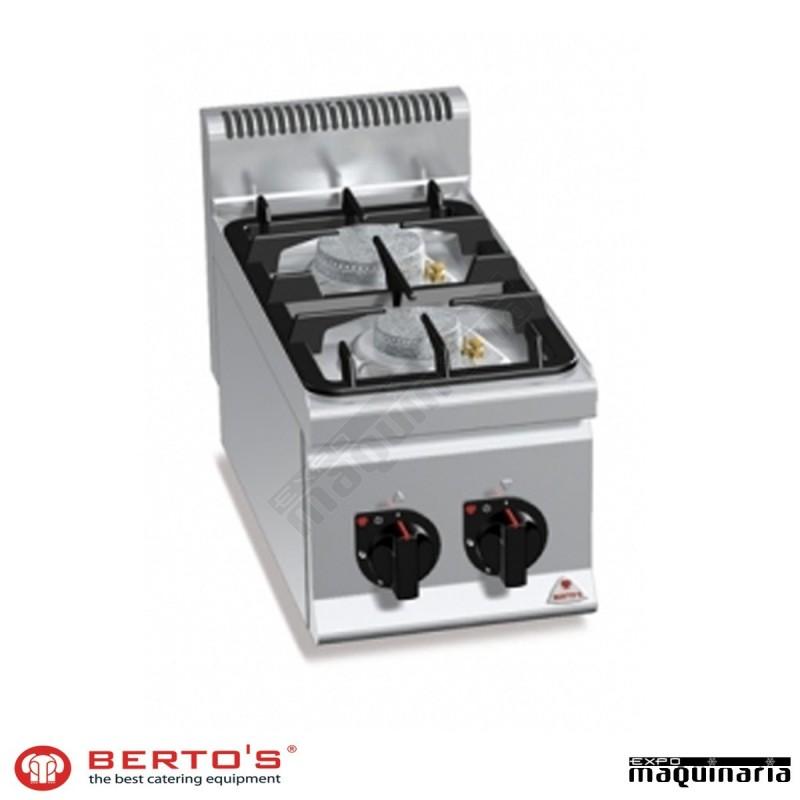 Cocina gas 2 fuegos rmg6f2bpw de acero inox for Cocina de gas de dos fuegos