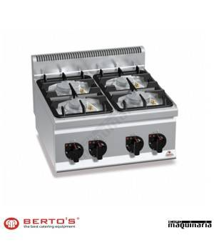 Cocina gas 4 fuegos RMG6F4BPW