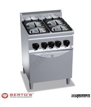 Cocina gas 4 fuegos con horno RMG6F4PW+FG1 ECO POWER