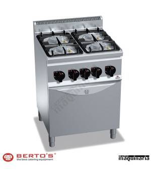 Cocina gas 4 fuegos con horno rmg6f4pw fg1 eco power de for Cocina 4 fuegos con horno a gas