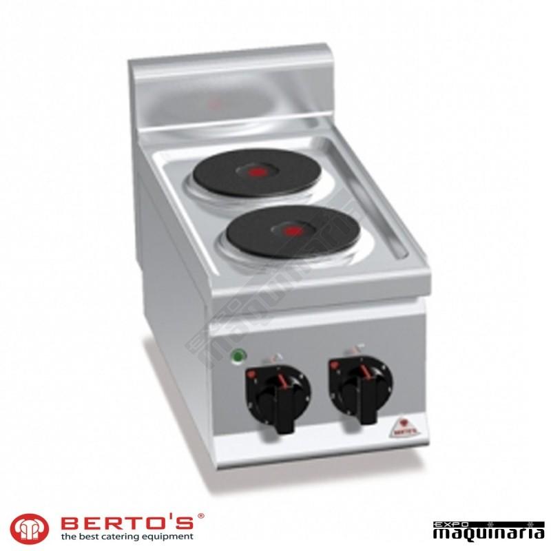 Cocina el ctrica 2 fuegos rmg6p2b de acero inoxidable for Cocina 6 fuegos repagas