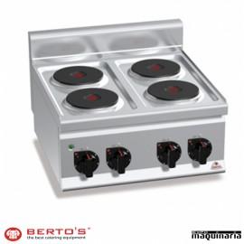 Cocina eléctrica 4 fuegos RME6P4B