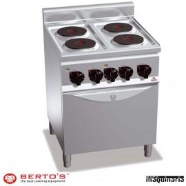 Cocina eléctrica 4 fuegos con horno RME6P4+FE1