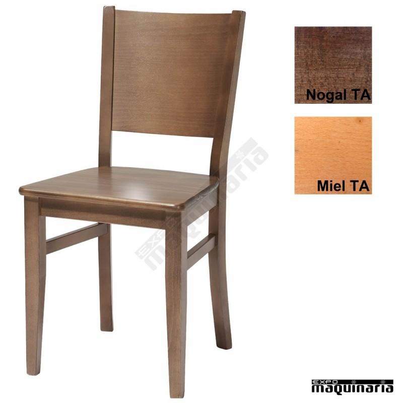 Silla de madera economica ta alba for Sillas madera baratas