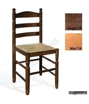 silla rustica madera 1t210 TA CASTELLANA TORNEADA ENEA