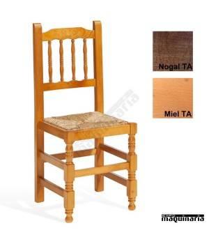 Silla bar madera ECO 1T202 asiento anea