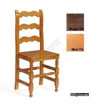 Silla en madera de pino para interior 1t250 para bares o for Sillas madera baratas
