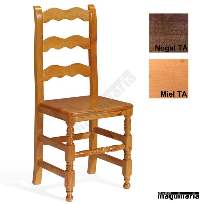 silla en madera de pino para interior 1t250 para bares o