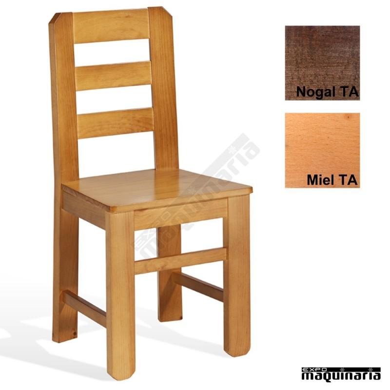 silla madera cafeteria 1t121 pino macizo barnizada ta toscana