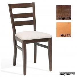 Silla madera tapizada 1T241 TA MILAN