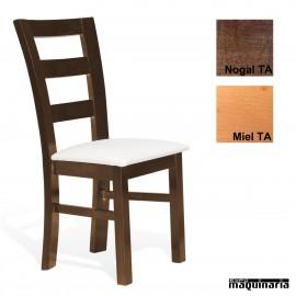 Sillas madera tapizada Económica 1T127 TA CLEO