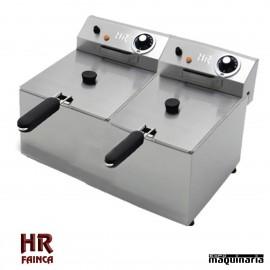 Freidora Semi industrial 6 + 6 litros HRFD6L6LF alto rendimiento