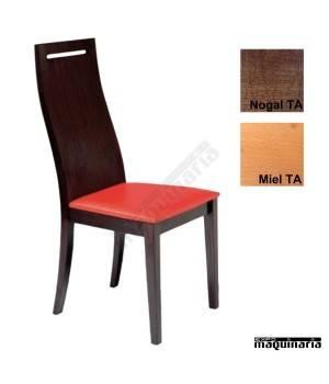 Silla tapizada de madera economica 1T258
