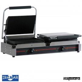 Plancha grill eléctrica placa de hierro IRGR340x2LL