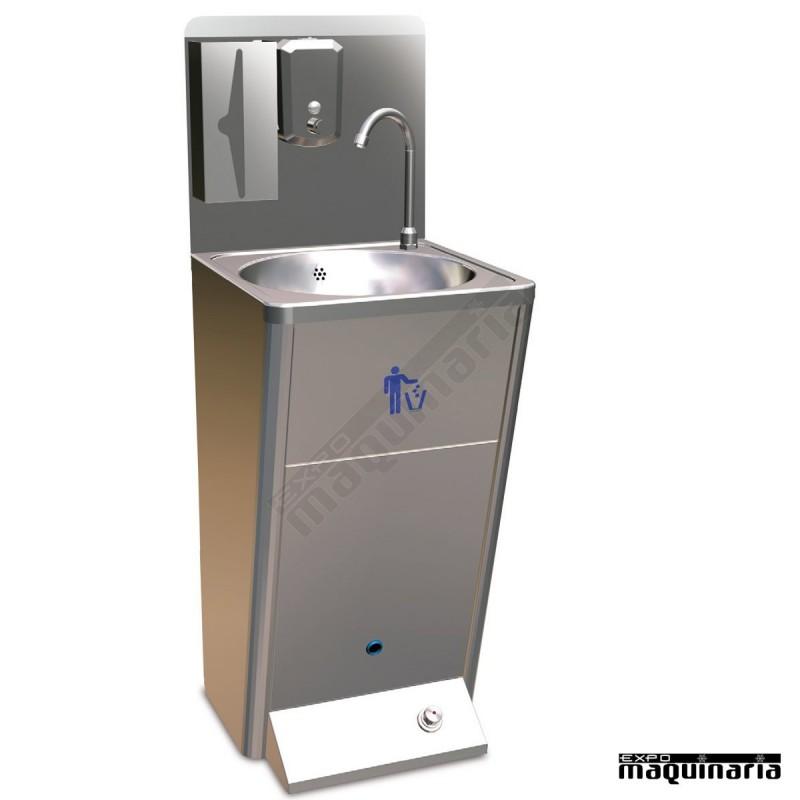 lavamanos industrial acero inox fr061414con mueble061414