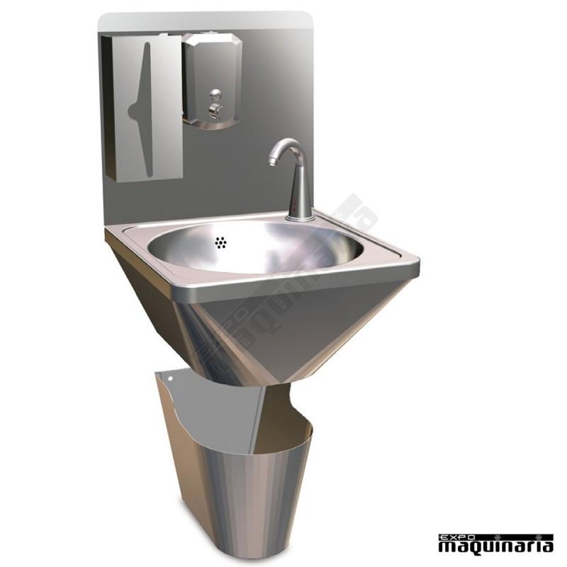 Lavamanos grifo automatico inoxidable con mueble 061410 - Grifos para lavamanos ...