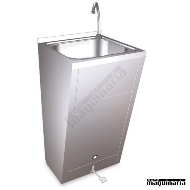 Lavamanos de pie con pedal inoxidable fr061004 for Lavabo de acero inoxidable