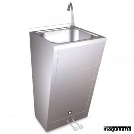 Lavamanos acero inox doble pedal FR061008