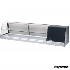 Vitrina con 2 pisos 6 platos para tapas frías CLVRGI2P6P