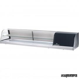 Vitrina con 2 pisos 8 platos para tapas frías CLVRGI2P8P