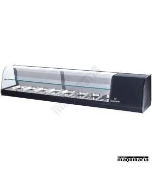 Vitrina de tapas frías 2 pisos 8 bandejas GN1/3 CLVRGI2P8B