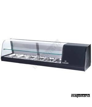 Vitrina de tapas frías 2 pisos 6 bandejas GN1/3 CLVRGI2P6B